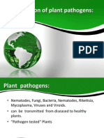 Elimination of Plant Pathogens