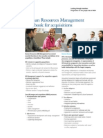 HR Management Handbook for Acquisitions
