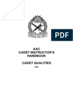 AAC Inst Hbook - Cadet Qualities