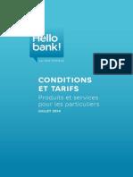 Tarifs Hellobank Juillet 2014