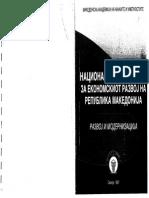 Nacionalna Strategija Za Ekonomskiot Razvoj Na MKD - Razvoj i Modernizacija - 1997 MANU