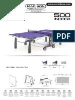 Instrucciones Montaje Mesa de Pingpong Cornilleau 500 Indoor