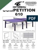Instrucciones Montaje Mesa de Pingpong Cornilleau Competition 610