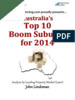 Top 10 Boom Suburbs 2014