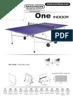 Instrucciones Montaje Mesa de Pingpong Cornilleau One Indoor