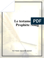 Le Testament Du Prophete Nouh