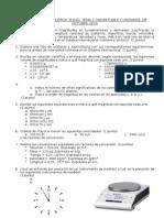 Examen de magnitudes y unidades