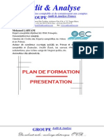 Audit Analyse Plan de Formation