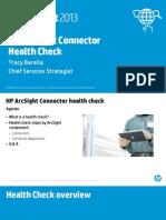 ArcSight Connector Health Check