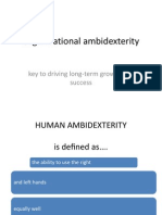 Organisational Ambidexterity Vidhi Ppt