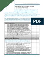 Checklist Wireless Lan Management