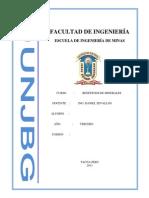 II Informe de Beneficios de Minerales
