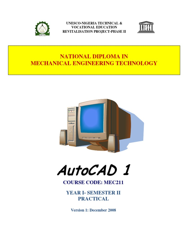207741154-Mec-211-Autocad-1.pdf | Command Line Interface | Icon (Computing)