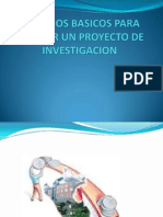 Criterios Basicos Para Evaluar Un Proyecto de Investigacion