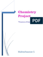 EXPERIMENT REPORT FILE Final Presence of Amount of Oxalate Ion