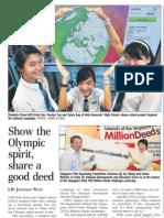 Singapore Goes on a Million Deeds Challenge, 18 Mar 2009, Straits Times