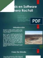 Uso de ROCFALL  en minería Cielo Abierto - R. y G.
