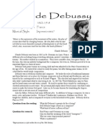 Debussy Bio and Lesson Plan