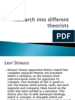 Research Into Different Theorists