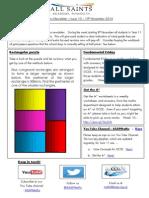 Maths Newsletter 10 - 19th November 2014