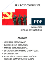 China Pre y Post Comunista