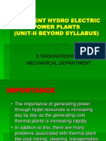 Different Hydroelectric Power Plant(Beyond Syllabus-II)