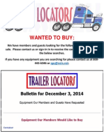 Wanted to Buy Bulletin