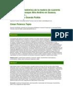 Descripción Anatómica de La Madera de Cuarenta Especies Del Bosque Alto