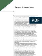À propos de Jacques Lacan