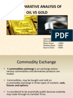 Oil and Gold- Analysis