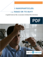 Make vs Buy Gold Nanoparticles- An Analysis