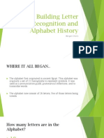 building letter recognition and alphabet history