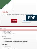 Etude Sur La Compétitivité Des Usines en France