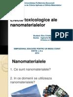 Efecte Toxicologice Ale Nanomaterialelor