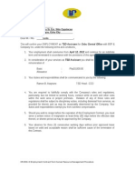 HR-006-0 Employment Contract From Human Resource Management Procedure