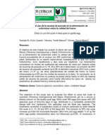 Efecto del uso de la escama de pescado en la alimentación de codornices sobre la calidad del huev