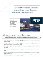11.12.14 - Update Report of Governor's Advisory Commission on New Jersey Gaming, Sports and Entertainment