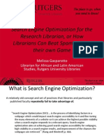 Search Engine Optimization for Librarians-Melissa-Gasparotto