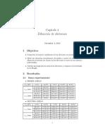 Informe de práctica sobre difracción de electrones