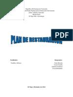 Plan de Restauración Ecológica