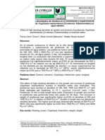 Efecto de altas densidades de siembra en el crecimiento y supervivencia de postlarvas de Cryphiops caementarius (Crustacea
