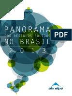 Panorama dos Resíduos Sólidos no Brasil 2013