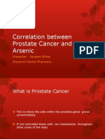 Correlation Between Prostate Cancer and Arsenic