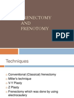 Frenectomy and Frenotomy