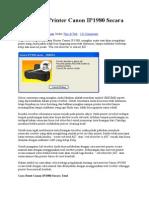 Cara Reset Printer Canon IP1980 Secara Total