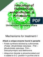 K46 Pharmacology of Anthelminthics, Antiprotozoal, & Antimalaria (Farmakologi).ppt