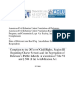 ACLU Et Al v. State of Delaware and Red Clay Consolidated 03 Dec 14