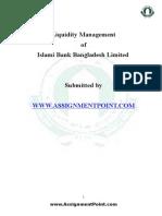 Liquidity Management of Islami Bank Bangladesh Ltd