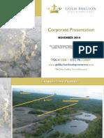 GBB Corporate Presentation NOVEMBER 2014