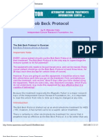 Bob Beck Protocol - Alternative Cancer Treatments